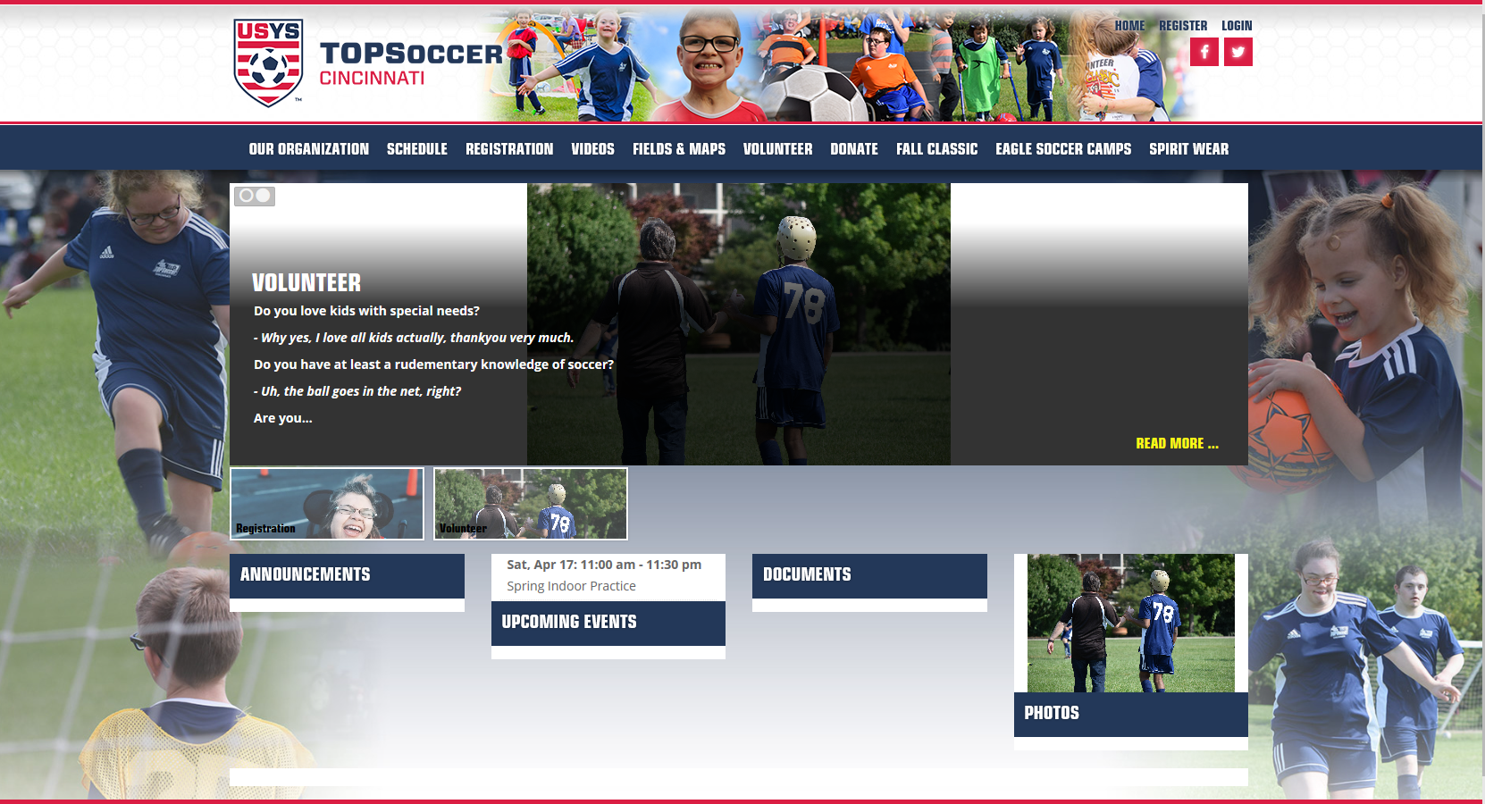 New Website Launched for Cincinnati TOPSoccer
